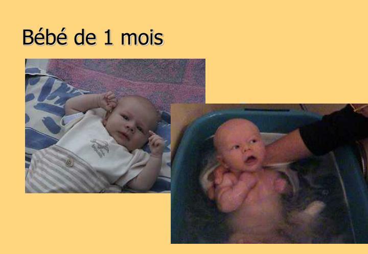 Bébé de 1 mois