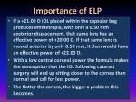 importance of elp