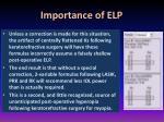 importance of elp1