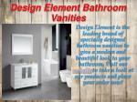 design element bathroom vanities