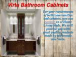 virtu bathroom cabinets