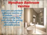 wyndham bathroom vanities