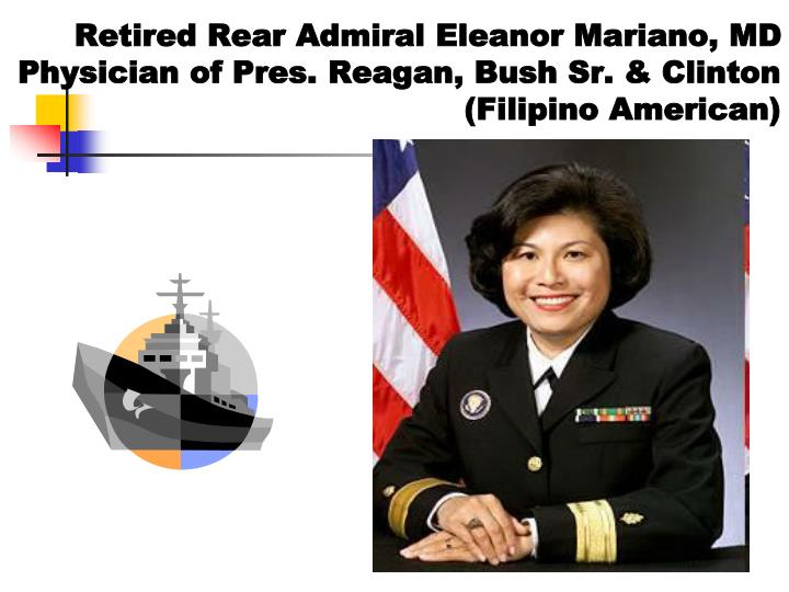 Retired Rear Admiral Eleanor Mariano, MD