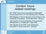 context future related meetings