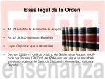 base legal de la orden
