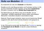 rolle von modellen 2