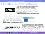a growing community of partners and customers