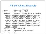 as set object example
