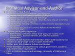 technical advisor and author