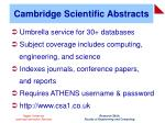 cambridge scientific abstracts