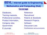 eevl internet guide to engineering mathematics and computing hub