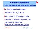 emerald abstracts computer abstracts international database