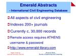 emerald abstracts international civil engineering database