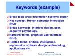 keywords example