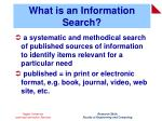 what is an information search