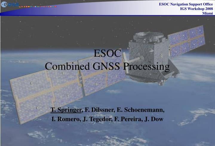 esoc combined gnss processing n.
