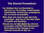 the eternal promotion