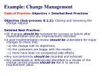 example change management1