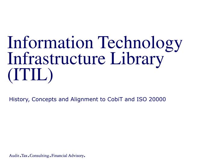 information technology infrastructure library itil n.
