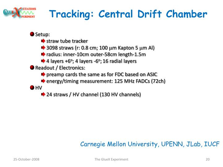 Tracking: Central Drift Chamber