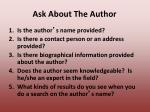ask about the author