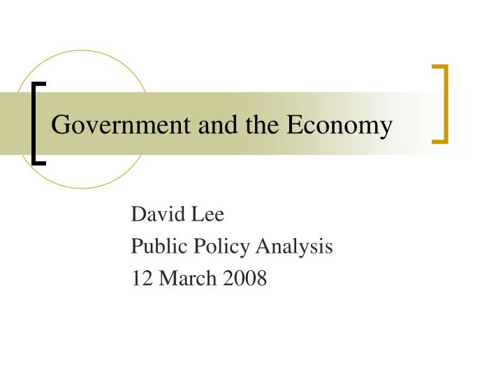 government and the economy n.