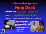 information systems help desk