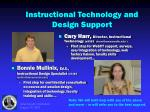 instructional technology and design support