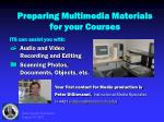 preparing multimedia materials for your courses