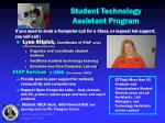 student technology assistant program