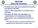 nexcom data link transition