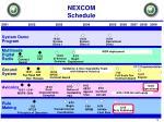 nexcom schedule