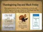 thanksgiving day and black friday
