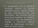 o pensamento positivista