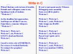 write in c
