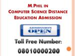 m phil in computer science distance education admission