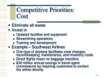 competitive priorities cost
