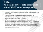 2 isa au del de l iafp et le partenariat entre l asfc et les entreprises