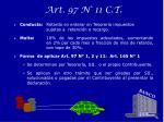 art 97 n 11 c t