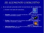 iii elemento coercitivo