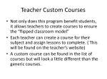 teacher custom courses