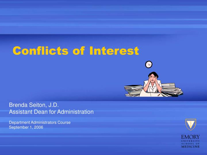 conflicts of interest n.