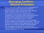 managing conflicts general principles