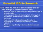 potential icoi in research