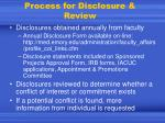 process for disclosure review