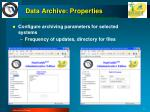 data archive properties
