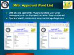 dms approved word list