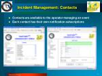 incident management contacts