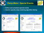 ramp meter special events