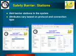 safety barrier stations